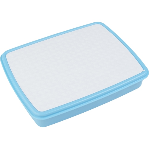 Blue Plastic Lunch Box with Snack Boxes and Sublimation Insert