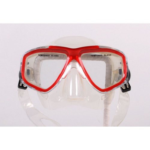 Clearance - Dive Snorkel Red-Clear Mask