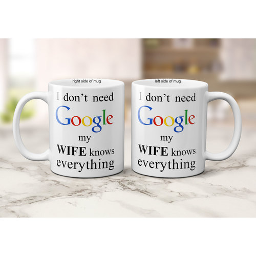 OAS Wife Knows Everything Ceramic Coffee Mug