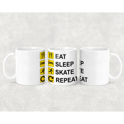 OAS Eat Sleep Skate Repeat Mug