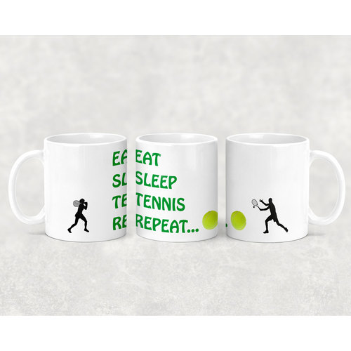 OAS Eat Sleep Tennis Repeat Mug