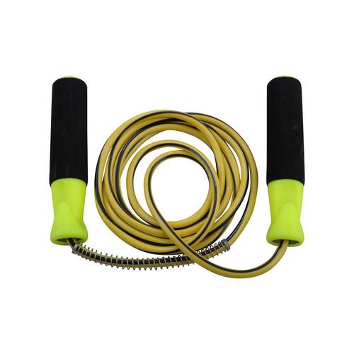OAS Coloured Core PVC Skipping / Jump Rope - Yellow/Bk