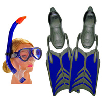 KIDS 4-5 XS Alien Snorkeling Set Blue