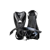 IST Otter Snorkeling Set BLACK (Medium size 7-10)