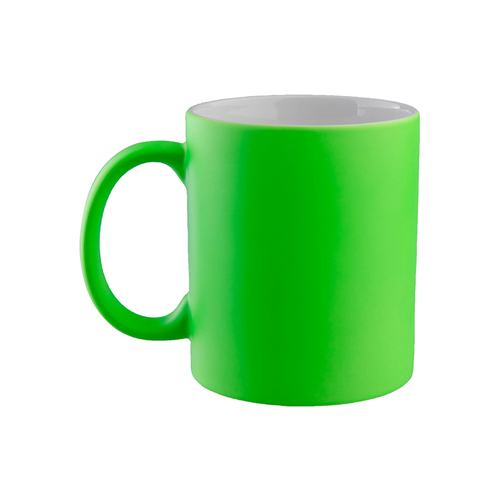 11oz Fluorescent Sublimation Mug (Frosted, Bright Green)