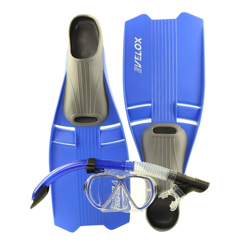Clearance Size 5-6 Blue Youth Snorkeling Set