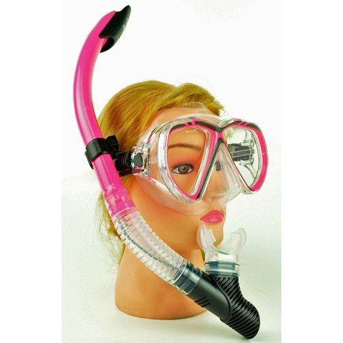 IST M75 Silicon Hot Pink Mask & Snorkel Set
