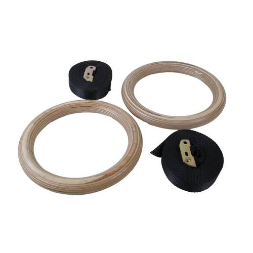 OAS WOOD Gym Rings 28mm Heavy Duty Straps