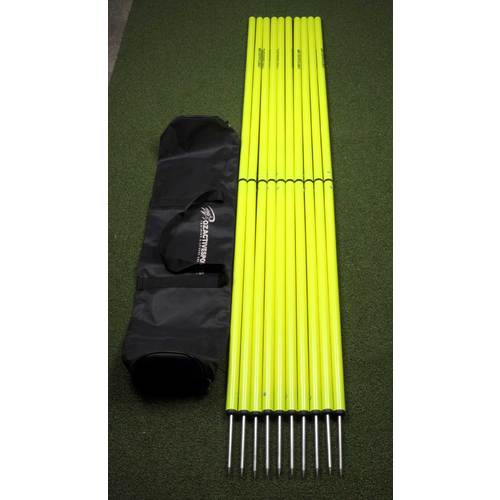 OAS Set of 10 Two Piece Agility Poles in Bag  - 166cm in height