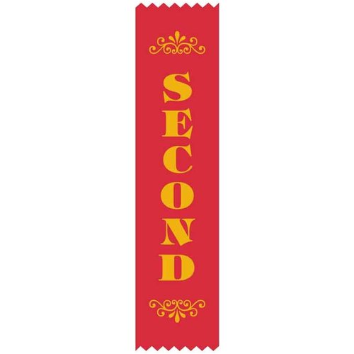 2nd Place Satin Ribbon (100pack)